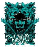 Elektriska vågor Vektor Illustrationer