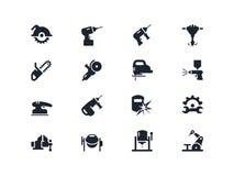 Elektriskt arbete bearbetar symboler Lyra serie Arkivbilder