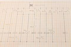 Elektriskt diagram Fotografering för Bildbyråer
