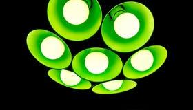 elektriskt fast tillbehör med runda plafonds från exponeringsglas Royaltyfri Fotografi