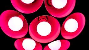 elektriskt fast tillbehör med runda plafonds från exponeringsglas Arkivfoto