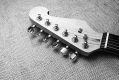 elektriskt gitarrhuvud Royaltyfri Foto