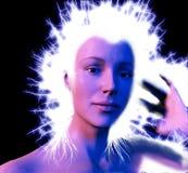 elektriskt hår Fotografering för Bildbyråer