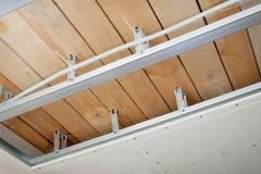 elektriskt installerat ledningsnät för tak Royaltyfria Bilder