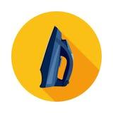Elektriskt järn för plan symbol Arkivfoto