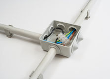 elektriskt ledningsnät fotografering för bildbyråer