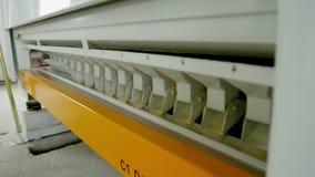 Elektriskt mala vetemjöl för maskineri för tillverkning av Kornutrustning stock video
