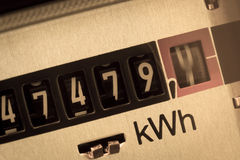 elektriskt räkneverk Fotografering för Bildbyråer