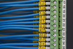 elektriskt signalledningsnät arkivbilder