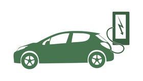 Elektriskt skydd för energi för natur för ekologi för medelsymbolsvektor vektor illustrationer