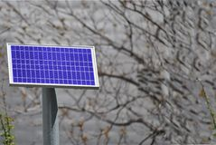 Elektriskt & sol-, solpanel fotografering för bildbyråer