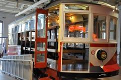 Elektriskt stadsspårvagnmuseum i Scranton arkivfoton