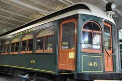 Elektriskt stadsspårvagnmuseum i Scranton fotografering för bildbyråer