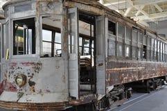 Elektriskt stadsspårvagnmuseum i Scranton arkivbilder