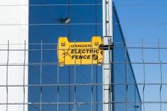 elektriskt staket royaltyfri fotografi