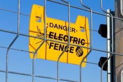 elektriskt staket arkivfoto