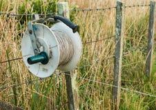 Elektriskt staket Reel arkivfoton