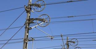 Elektriskt system för järnväg av energi Arkivbilder