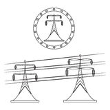 elektriskt torn vektor illustrationer