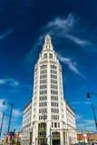 Elektriskt torn, en historisk kontorsbyggnad i buffeln, NY, USA Byggt i 1912 Royaltyfri Fotografi
