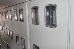 Elektriskt transformatorkabinett Royaltyfri Fotografi