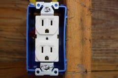 elektriskt uttag Arkivfoton