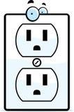 Elektriskt uttag för tecknad film royaltyfri illustrationer