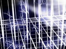 Elektrizität in einer Luft - Drahthintergrund Lizenzfreie Stockbilder