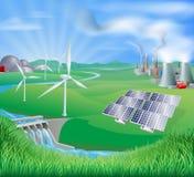 Elektrizität oder Stromerzeugungmethoden Lizenzfreie Stockfotografie