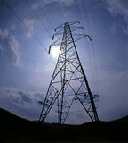 Elektrizitäts-Gondelstiel Stockfoto