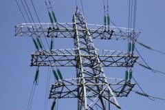 Elektrizitäts-Gondelstiel stockbilder