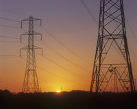 Elektrizitäts-Gondelstiele Lizenzfreies Stockbild