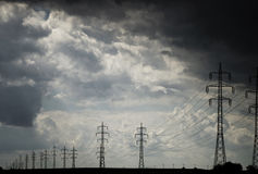 Elektrizitätsdrähte Stockbild