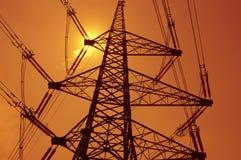 Elektrizitätsgondelstiel Lizenzfreie Stockfotos