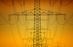 Elektrizitätsgondelstiel Stockfoto