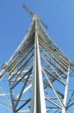 Elektrizitätsgondelstiel in der Perspektive Stockfoto