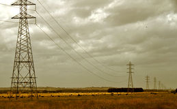Elektrizitätsgondelstiele   Lizenzfreie Stockfotos