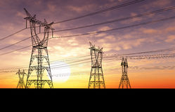 Elektrizitätsgondelstiele lizenzfreie abbildung
