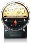 Elektrizitätshydroleistung-Zählwerkvektor Stockfoto