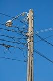 Elektrizitätspfosten Lizenzfreie Stockbilder