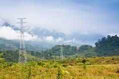 Elektrizitätspfosten Stockfotografie