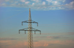 Elektrizitätspol Lizenzfreies Stockbild