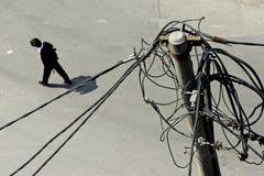 Elektrizitätspol Stockbild