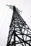 Elektrizitätspol mit Drähten Lizenzfreies Stockbild