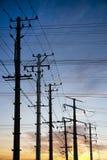 Elektrizitätspole Lizenzfreie Stockbilder