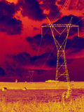 Elektrizitätssonnenwende Lizenzfreies Stockbild