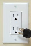 Elektro Afzet met kabel Stock Fotografie