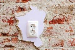 Elektro contactdoos Stock Afbeeldingen