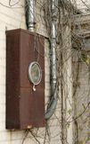 Elektro de meterdoos van het huis Stock Foto