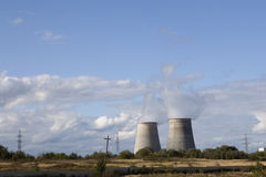 Elektro Elektrische centrale royalty-vrije stock foto